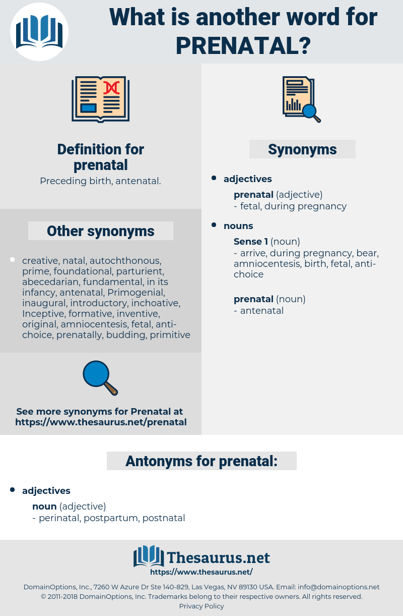 prenatal, synonym prenatal, another word for prenatal, words like prenatal, thesaurus prenatal