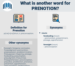 Prenotion, synonym Prenotion, another word for Prenotion, words like Prenotion, thesaurus Prenotion