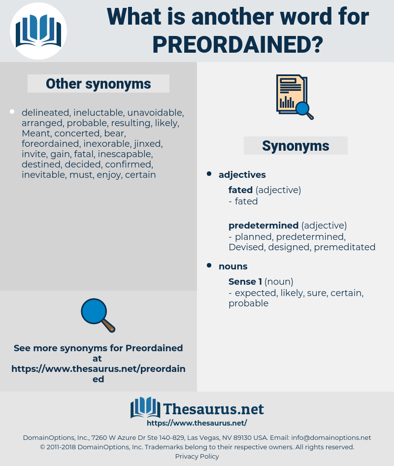 preordained, synonym preordained, another word for preordained, words like preordained, thesaurus preordained