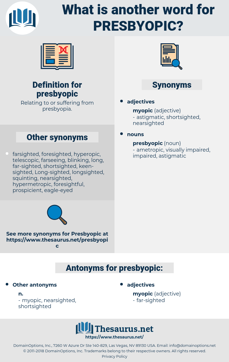 presbyopic, synonym presbyopic, another word for presbyopic, words like presbyopic, thesaurus presbyopic