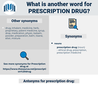 prescription drug, synonym prescription drug, another word for prescription drug, words like prescription drug, thesaurus prescription drug
