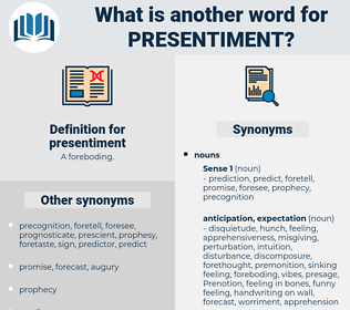 presentiment, synonym presentiment, another word for presentiment, words like presentiment, thesaurus presentiment