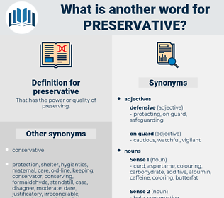 preservative, synonym preservative, another word for preservative, words like preservative, thesaurus preservative