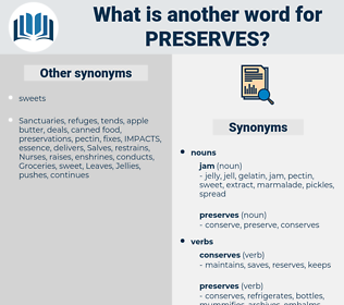 preserves, synonym preserves, another word for preserves, words like preserves, thesaurus preserves