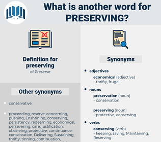 preserving, synonym preserving, another word for preserving, words like preserving, thesaurus preserving