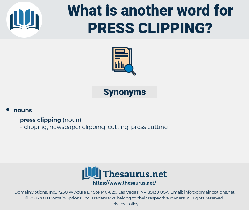 press clipping, synonym press clipping, another word for press clipping, words like press clipping, thesaurus press clipping