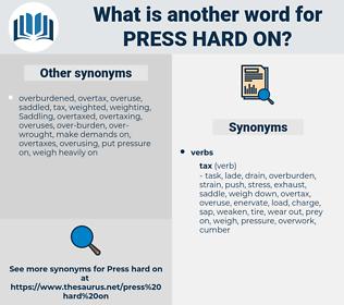 press hard on, synonym press hard on, another word for press hard on, words like press hard on, thesaurus press hard on