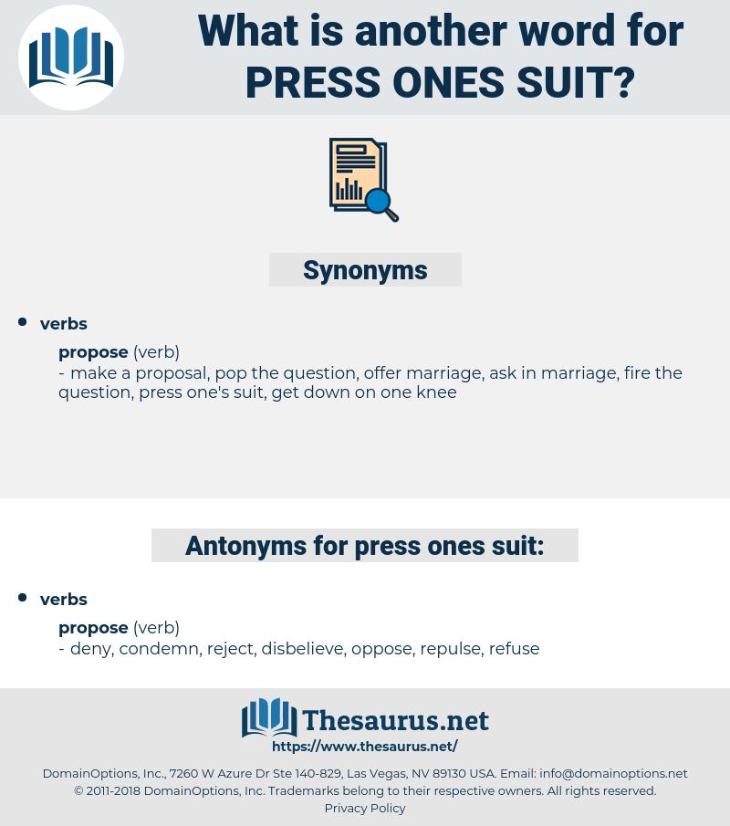 press ones suit, synonym press ones suit, another word for press ones suit, words like press ones suit, thesaurus press ones suit