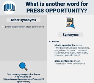press opportunity, synonym press opportunity, another word for press opportunity, words like press opportunity, thesaurus press opportunity