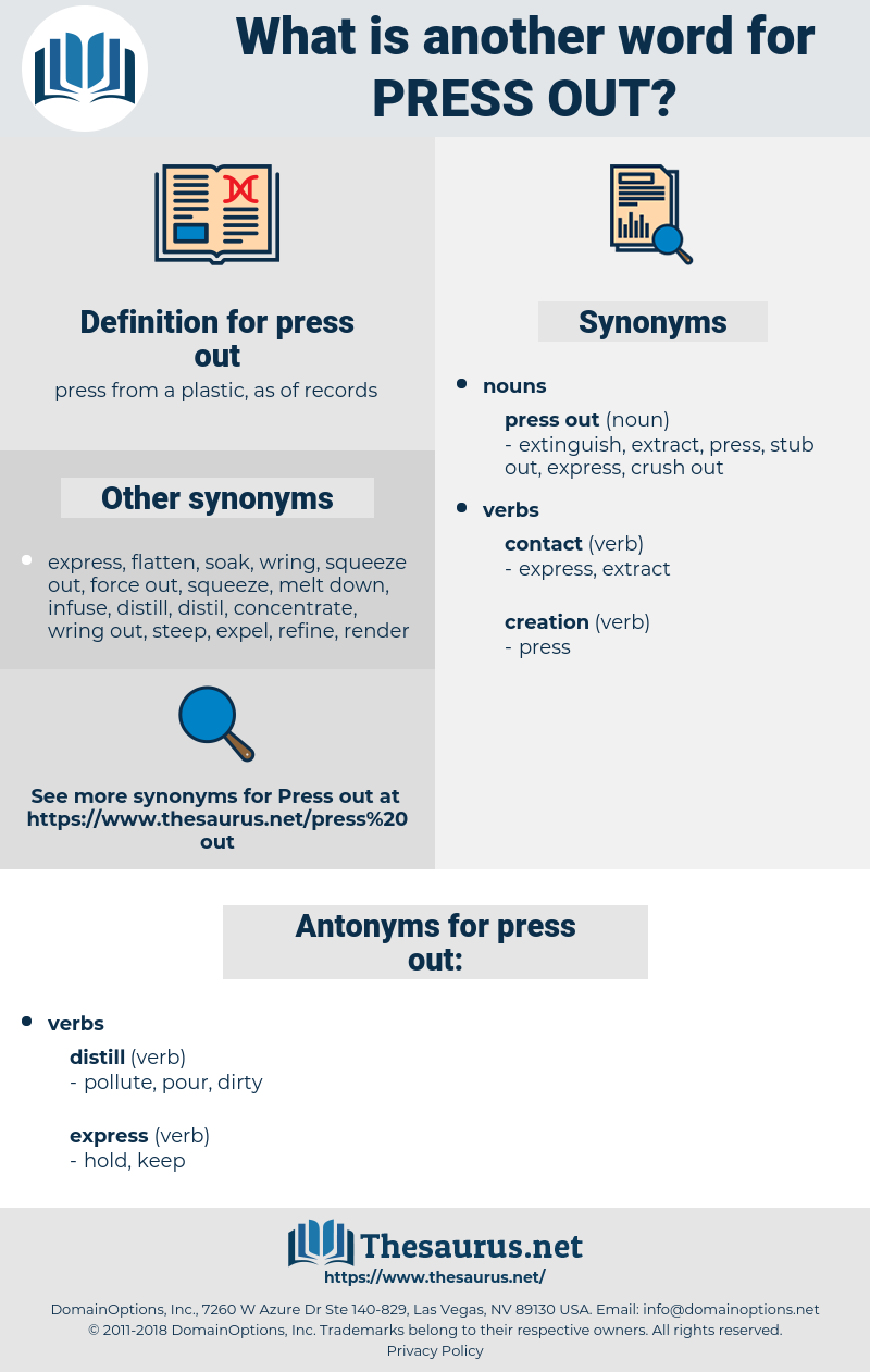 press out, synonym press out, another word for press out, words like press out, thesaurus press out