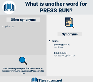 press run, synonym press run, another word for press run, words like press run, thesaurus press run