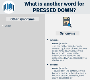 pressed down, synonym pressed down, another word for pressed down, words like pressed down, thesaurus pressed down
