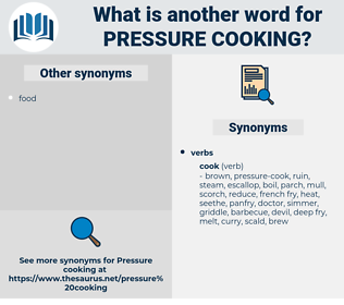 pressure cooking, synonym pressure cooking, another word for pressure cooking, words like pressure cooking, thesaurus pressure cooking