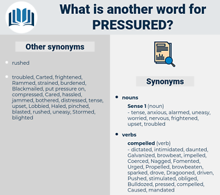 pressured, synonym pressured, another word for pressured, words like pressured, thesaurus pressured