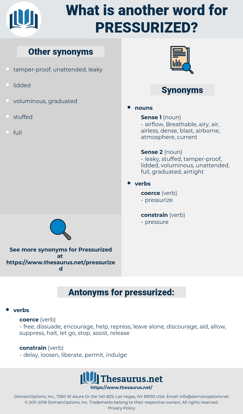 pressurized, synonym pressurized, another word for pressurized, words like pressurized, thesaurus pressurized