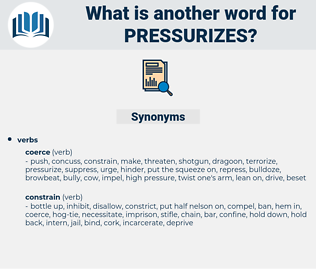 pressurizes, synonym pressurizes, another word for pressurizes, words like pressurizes, thesaurus pressurizes