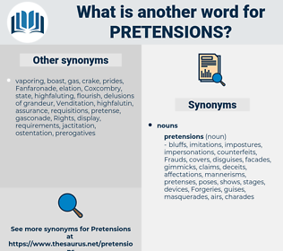pretensions, synonym pretensions, another word for pretensions, words like pretensions, thesaurus pretensions