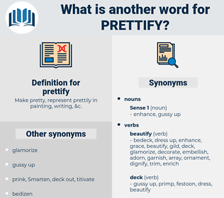 prettify, synonym prettify, another word for prettify, words like prettify, thesaurus prettify