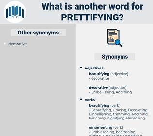 prettifying, synonym prettifying, another word for prettifying, words like prettifying, thesaurus prettifying