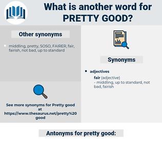 pretty good, synonym pretty good, another word for pretty good, words like pretty good, thesaurus pretty good