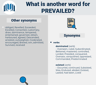 Prevailed, synonym Prevailed, another word for Prevailed, words like Prevailed, thesaurus Prevailed