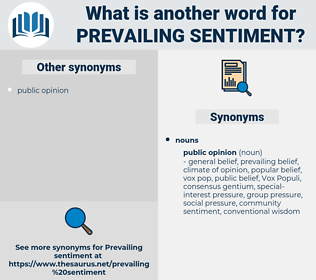 prevailing sentiment, synonym prevailing sentiment, another word for prevailing sentiment, words like prevailing sentiment, thesaurus prevailing sentiment