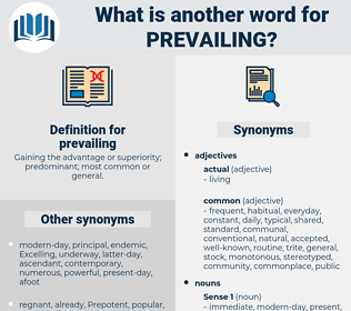 prevailing, synonym prevailing, another word for prevailing, words like prevailing, thesaurus prevailing