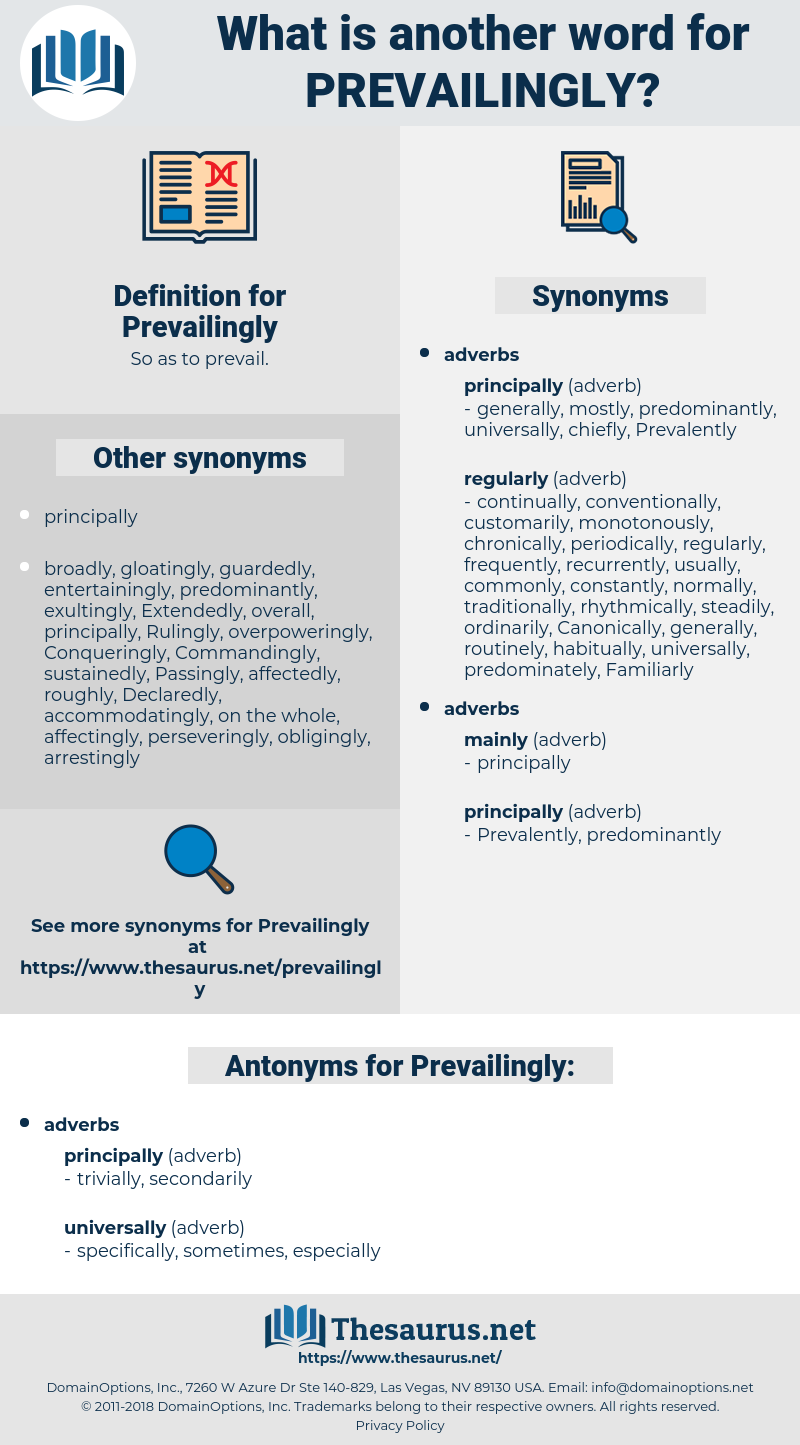 Prevailingly, synonym Prevailingly, another word for Prevailingly, words like Prevailingly, thesaurus Prevailingly
