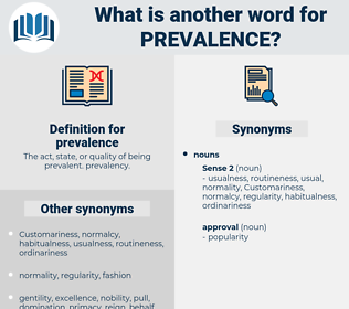 prevalence, synonym prevalence, another word for prevalence, words like prevalence, thesaurus prevalence