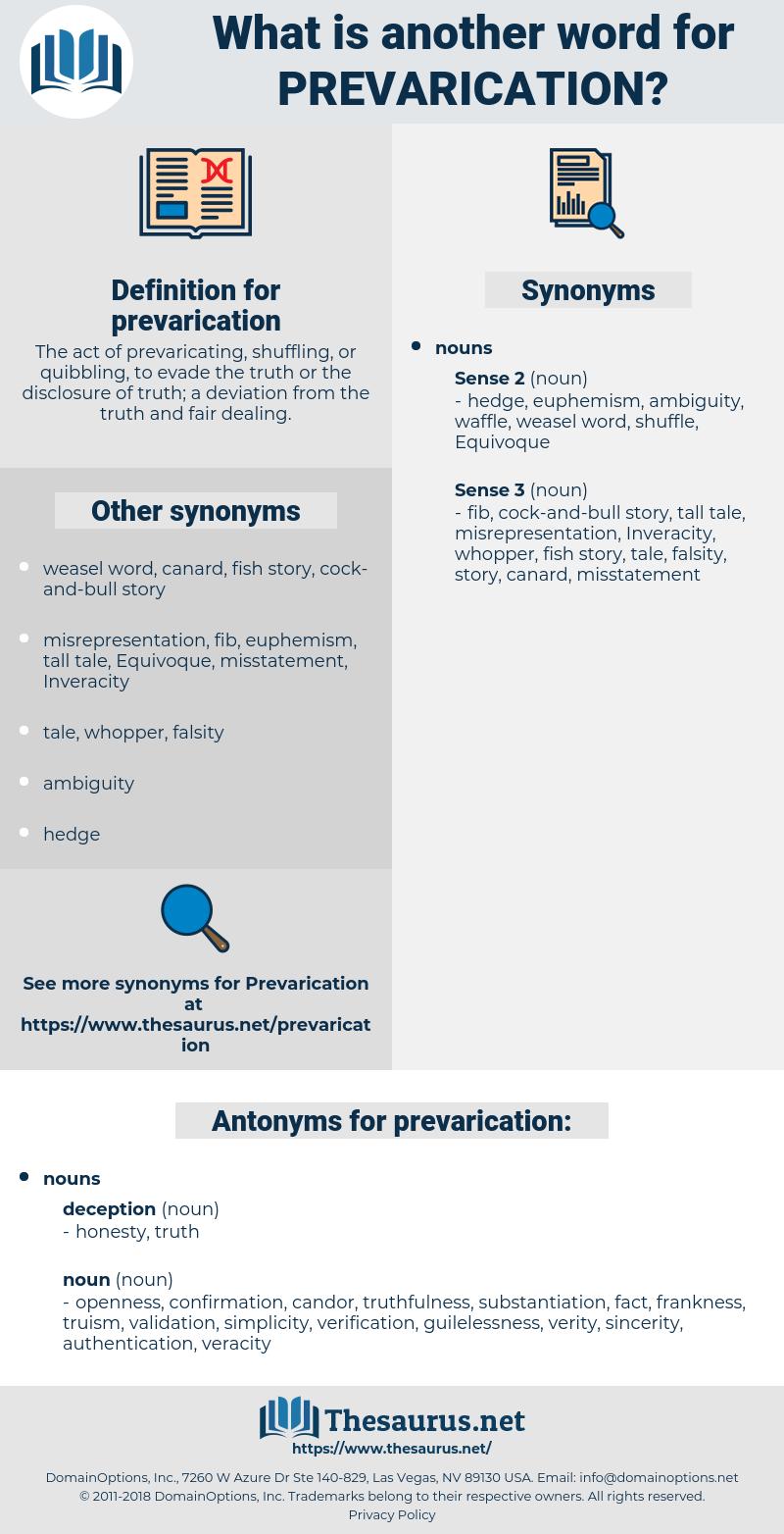 prevarication, synonym prevarication, another word for prevarication, words like prevarication, thesaurus prevarication