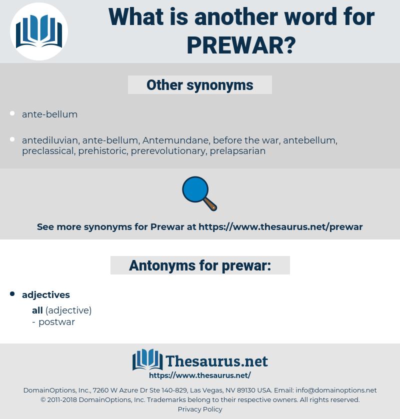 prewar, synonym prewar, another word for prewar, words like prewar, thesaurus prewar