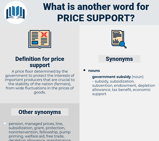 price support, synonym price support, another word for price support, words like price support, thesaurus price support
