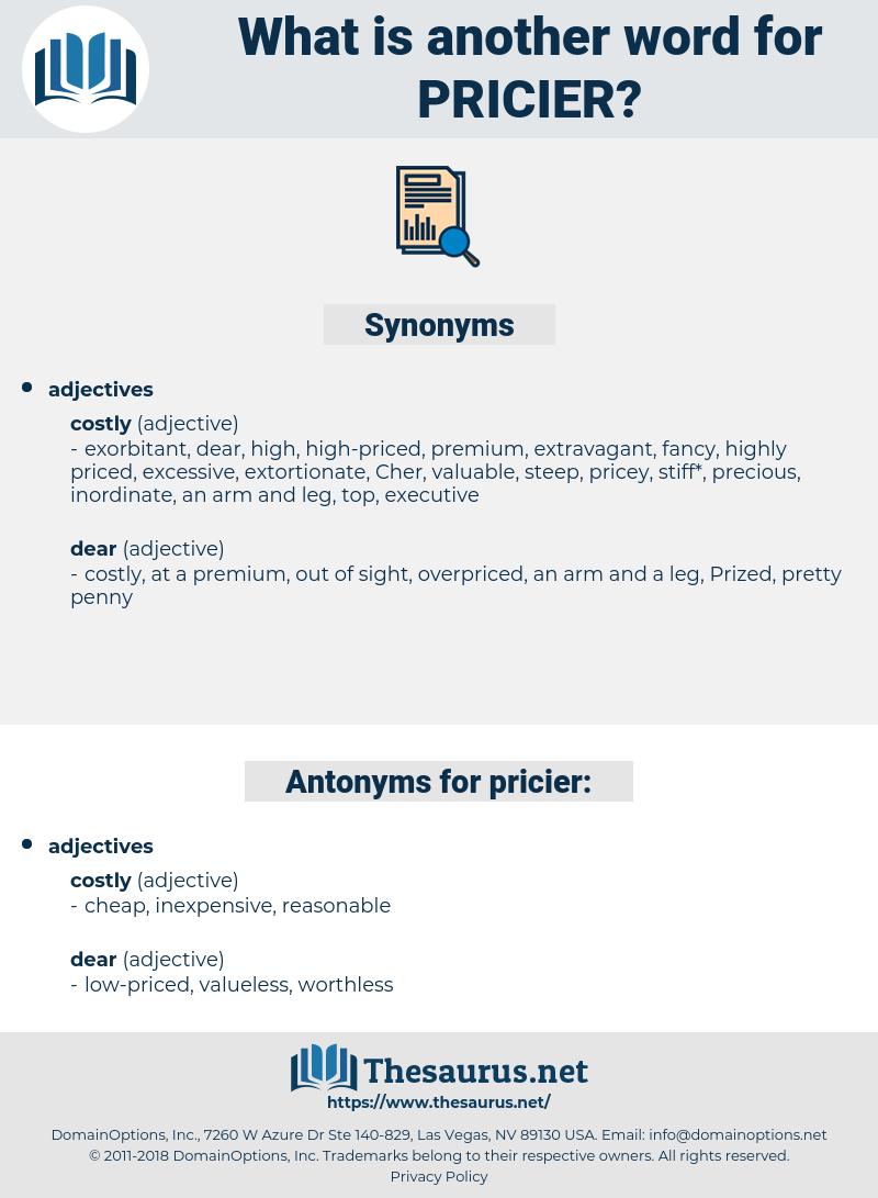 pricier, synonym pricier, another word for pricier, words like pricier, thesaurus pricier