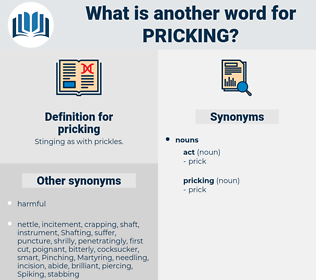 pricking, synonym pricking, another word for pricking, words like pricking, thesaurus pricking