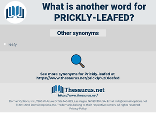 prickly-leafed, synonym prickly-leafed, another word for prickly-leafed, words like prickly-leafed, thesaurus prickly-leafed