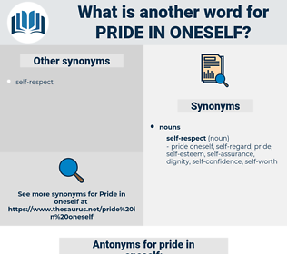 pride in oneself, synonym pride in oneself, another word for pride in oneself, words like pride in oneself, thesaurus pride in oneself
