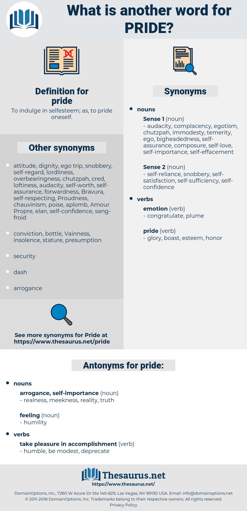 pride, synonym pride, another word for pride, words like pride, thesaurus pride