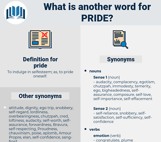 pride, synonym pride, another word for pride, words like pride, thesaurus pride