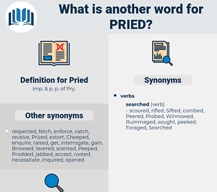 Pried, synonym Pried, another word for Pried, words like Pried, thesaurus Pried
