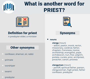priest, synonym priest, another word for priest, words like priest, thesaurus priest