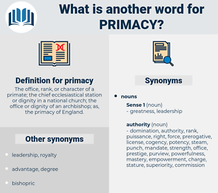 primacy, synonym primacy, another word for primacy, words like primacy, thesaurus primacy
