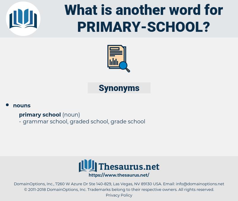 primary school, synonym primary school, another word for primary school, words like primary school, thesaurus primary school