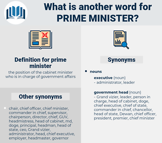 Synonyms For Prime Minister Thesaurusnet