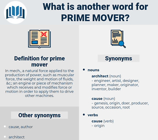 prime mover, synonym prime mover, another word for prime mover, words like prime mover, thesaurus prime mover