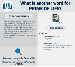 prime of life, synonym prime of life, another word for prime of life, words like prime of life, thesaurus prime of life