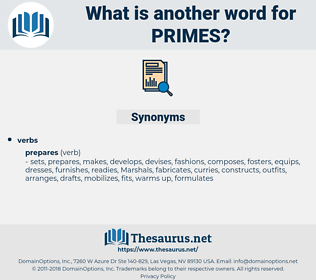 primes, synonym primes, another word for primes, words like primes, thesaurus primes