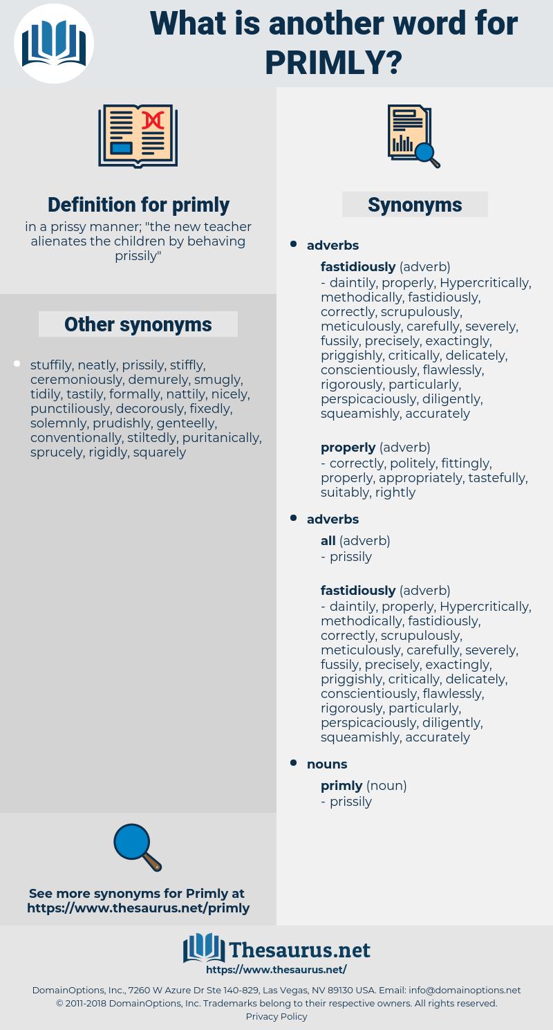 primly, synonym primly, another word for primly, words like primly, thesaurus primly