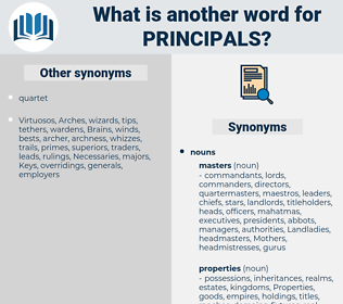 principals, synonym principals, another word for principals, words like principals, thesaurus principals