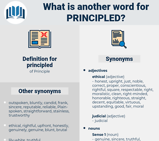 principled, synonym principled, another word for principled, words like principled, thesaurus principled