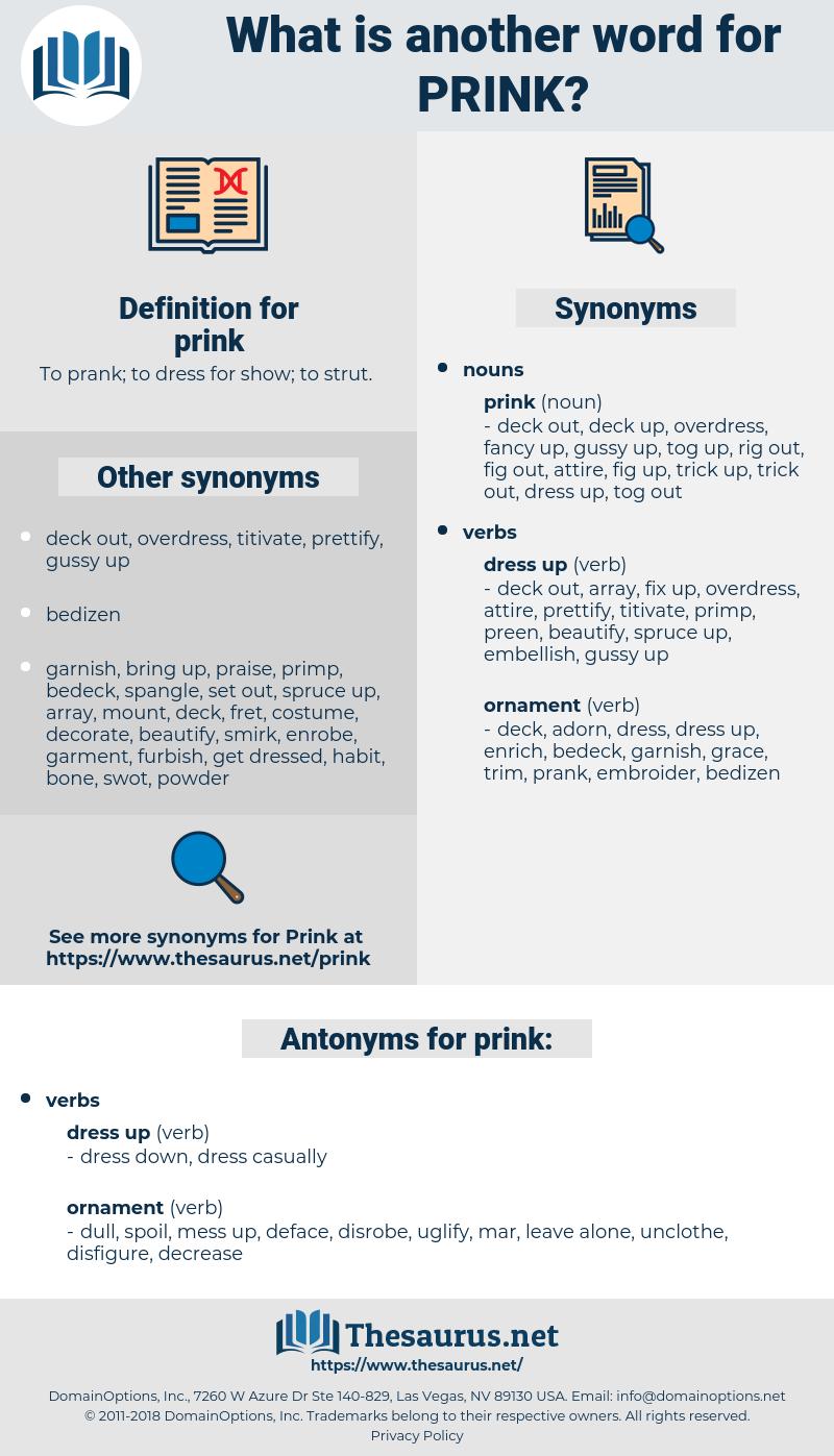 prink, synonym prink, another word for prink, words like prink, thesaurus prink
